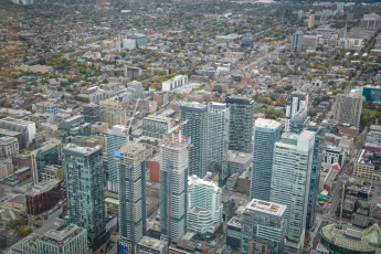 Une vue de Toronto depuis la CN Tower