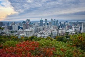 Vue de Montréal depuis le belvédère Kondiaronk