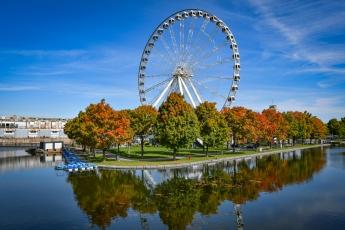 La grande roue sur le vieux port de Montréal
