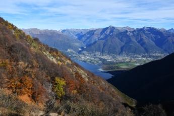 Une vue magnifique en montant au Monte Gambarogno