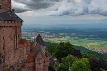 La vue depuis le Château du Haut-Kœnigsbourg