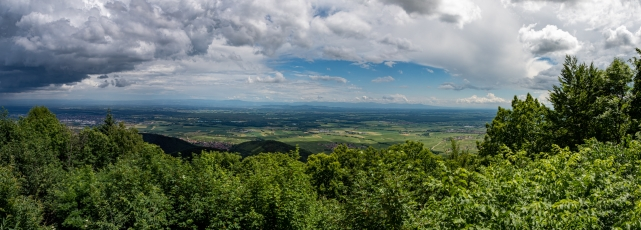 Panorama depuis le Château du Haut-Kœnigsbourg