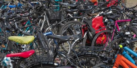 Les vélos sont très nombreux à Constance