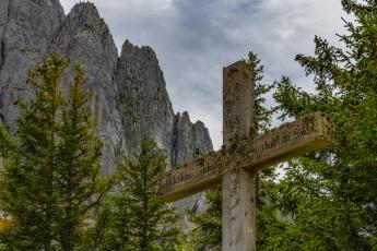 La croix près du Chalet du Soldat