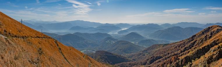 Panorama depuis le restaurant du Monte Lema