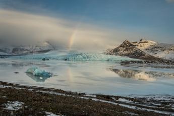 Le paysage féerique de Fjallsárlón en Islande