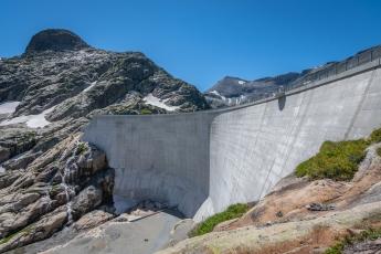 Le barrage du Vieux-Emosson