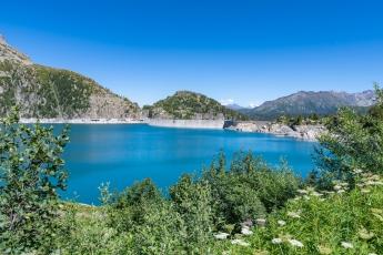 Le lac et le barrage d'Emosson