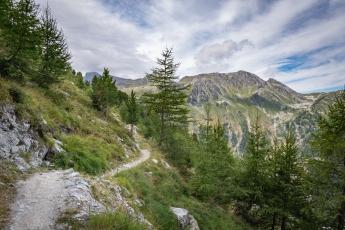 Sentier en direction du vallon de Réchy