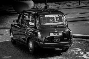 Un taxi à Glasgow